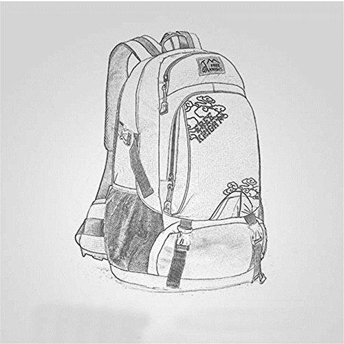 40L Wasserdichte Professionelle Nylon Ultralight Outdoor Rucksack Bike Travel Unisex Multifunktions–Tasche Dunkelblau