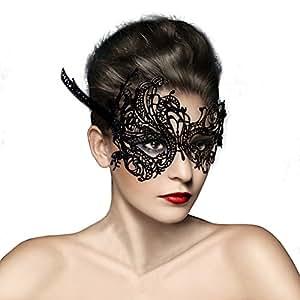 masque loup venitien en dentelle deguisement pour la soiree masque de bal mascarade halloween. Black Bedroom Furniture Sets. Home Design Ideas