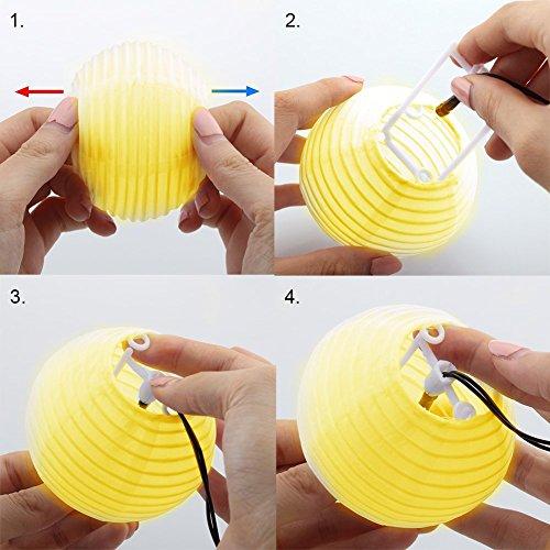 Tobbiheim Solar Lichterkette mit USB Ladung 20 LED Laterne 5 Meter Lampions Super Lange Beleuchtungszeit Wasserdicht IP68 Outdoor Garten Außenbeleuchtung mit 2M Zuleitung – Warmweiß - 7
