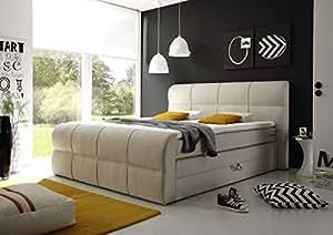 komfort boxspringbett con letto nischenmarkt hotel letto comfort letto minnesota avorio 180x200. Black Bedroom Furniture Sets. Home Design Ideas
