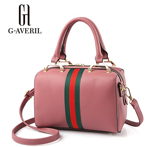 (G-AVERIL) 2018 Nappe semplice moda borsa di massa, Moda Delle Ragazze Donne Nappe in Pelle Borsa Bella Spesa Spalla Della Borsa Del Tote rosa