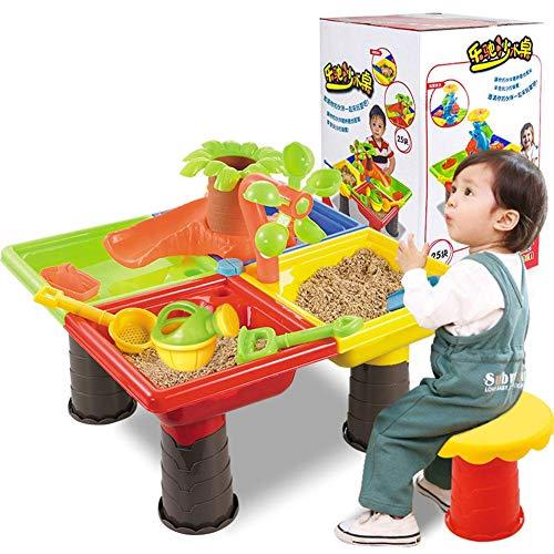 Xuanyang Kids Sand Set de Arena, Juguetes Arena y Mesa de Juego...