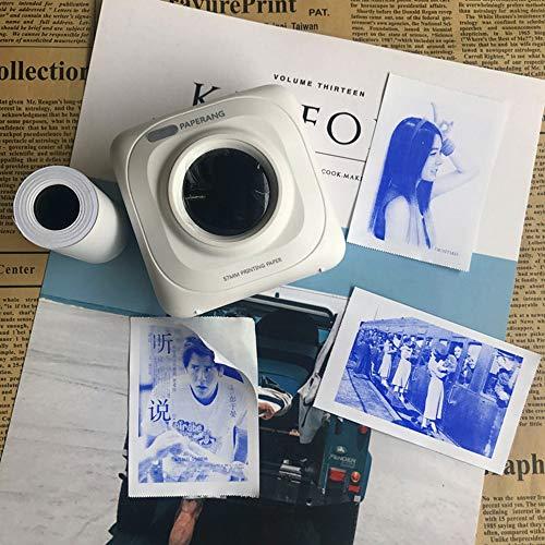 Glossy Printable Sticker Papierrolle -Blue Direct Thermal Paper Selbstklebend 57X30mm Für PAPERANG Und Mini Wireless Mobile Instant Drucker, 10Er Set