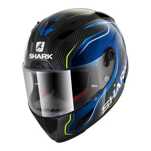 Shark de Hark–Race–Casco de Moto R Pro Carb Guintoli, Negr