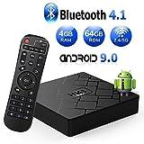 TV Box 9.0【4GB RAM+64GB ROM】 Livebox Android TV Box RK3318 Quad Core 64 bit Cortex-A53 Smart TV Box, Wi-Fi-Dual 5G/2.4G, BT 4.1, Box TV UHD 4K TV, USB 3.0