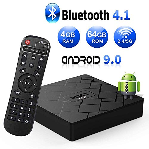 TV Box 9.0, Android TV Box 4 GB RAM 64 GB ROM, Livebox HK1 MAX Quad Core 64 bit Smart TV Box, Wi-Fi-Dual 5G/2.4G, BT 4.1, Box TV UHD 4K TV, USB 3.0 (andorid 9.0)