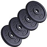 ScSPORTS 20 kg Hantelscheiben-Set Gusseisen 4 x 5 kg Gewichte