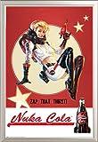 Fallout 4 Nuka Cola - Zap That Thirst Game Videospiel Poster Plakat Druck - Grösse 61x91,5 cm + Wechselrahmen der Marke Shinsuke® Maxi aus edlem Aluminium (ALU) Profil: 30mm silber