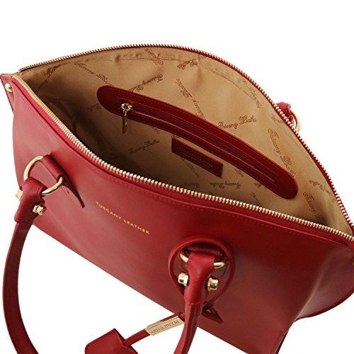 Tuscany Leather Diana Borsa shopper in pelle Ruga - TL141643 (Avorio) Avorio
