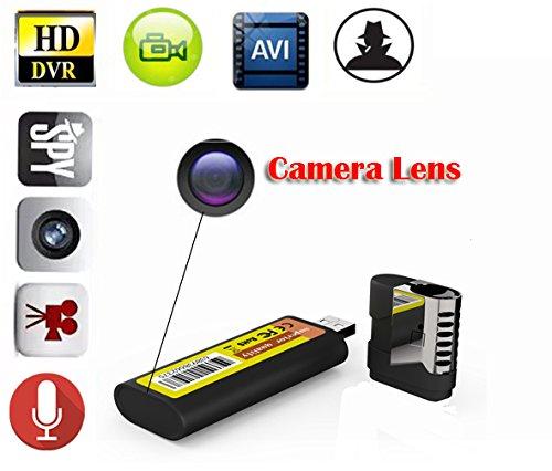 EPTEK @ M8 Mini Spy versteckte HD-DVR Feuerzeug Pinhole Kameras 1920 * 1080P Spy versteckte Kamera USB Mini DV Feuerzeug DVR Kamera Video Recorder Cam Camcorder schwarz