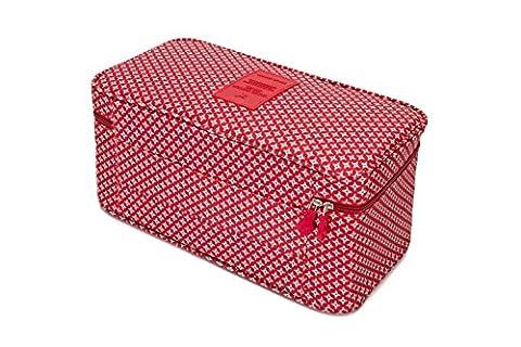 Les Bottes à bagages Emballage Cubes-compression Pochettes pour sous-vêtements, soutien-gorge, Chaussettes Motif étoiles - Rouge