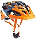 Cratoni Fahrradhelm C-Hawk, Orange/Blue/White Rubber, 56-59 cm, 110711B2