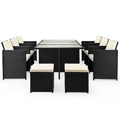 Poly Rattan Sitzgruppe 27tlg Sitzgarnitur Gartengarnitur Rattanmöbel Cube - 3