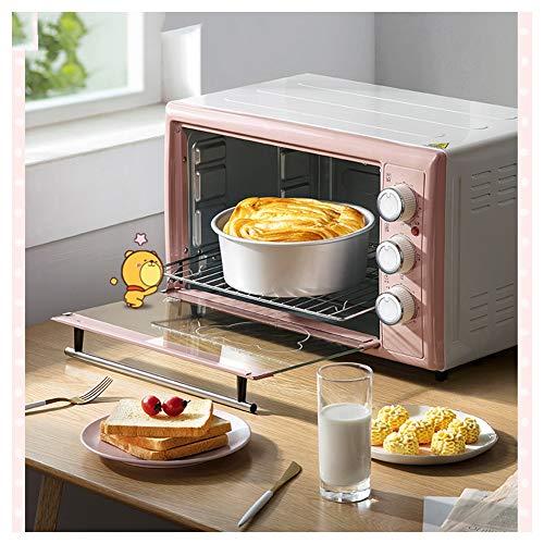 HARDY-YI Öfen-MiniOven Elektrogrill , Für die Tischverwendung - 1500 W (Pink) Schnellaufheiz-Toaster-Öfen mit Zeitschaltuhr-Klein genug
