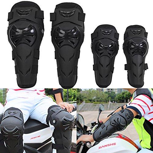 4pcs Kit Erwachsene Knie -Schienbeinprotektor Elbow Knee Shin Guard Pads Schützen Rider für Motorcycle Bike ATV Motocross (Knie Kit Pad)