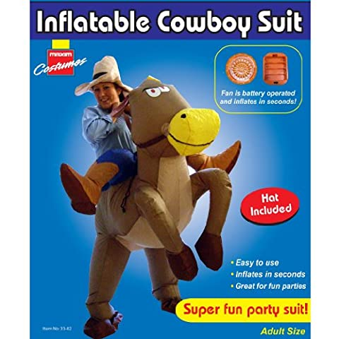 INFLATABLE COWBOY ON HORSE RIDING ADULTS FANCY DRESS PARTY HALLOWEEN COSTUME NEW