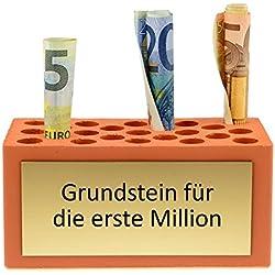 4you Design Grundstein für die erste Million - Weihnachtsgeschenk, Geburtstagsgeschenk, Hochzeitsgeschenk, Geschenkidee, Geschenk