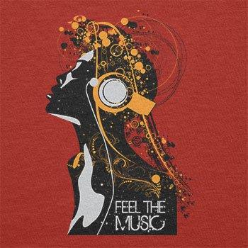 TEXLAB - Feel the Music - Herren Langarm T-Shirt Rot