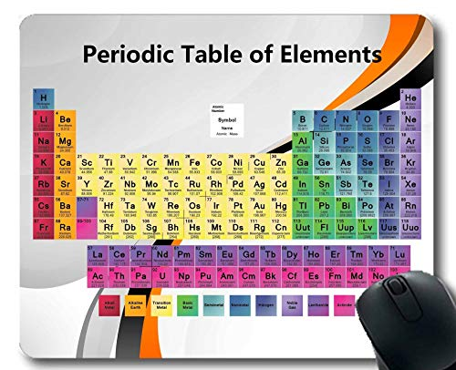 Mauspads, Farbiges Periodensystem der Elemente-Mäusematte, Pädagogisches Wissenschafts-Dickes großes Gummi-Mousepad