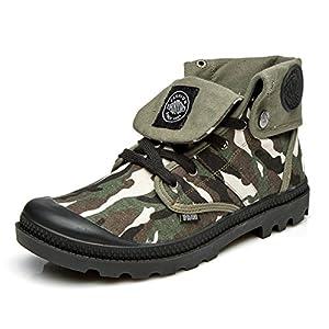 Hombres zapatos vestido escalar montañas otoño aire libre zapatos de lona botas resbalón encendido negro-marrón-B Longitud del pie=40EU