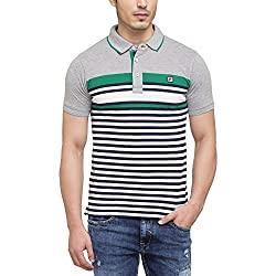 Fila Mens Stripe Polo T-Shirt_Grey_Large