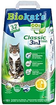 Biokat's - Litière pour chat Classic Fresh 3 en 1 - Agglomérante et anti-odeur - Ne colle pas - Senteur printanière - 1 x 10 L