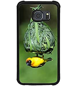 ColourCraft Bird and nest Design Back Case Cover for SAMSUNG GALAXY S6