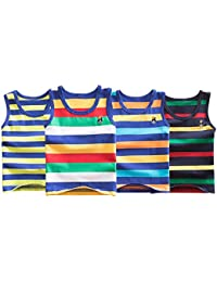Minuya Camiseta de Tirantes - Cuello Redondo - Sin Mangas - Para Niño