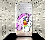 ForeverOne Coque Rigide pour iPhone X Licorne Humour Fun Collection 05