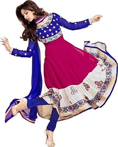 Indisch Salwar Kameez Frau Nicht abgesteppt kleid partywear Nicht Gewunden Nur Material Mirchi Fashion (Anarkali Salwar Kameez)