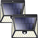 Luci Solari Esterno 82LED [2 Pezzo], Luposwiten 1640LM Lampade Solari a Led de Esterno, 270° Luce Solare con Sensore di Movimento, Luci Solari per Giardino, Pareti, Cortile,Lampada Solare da Esterno