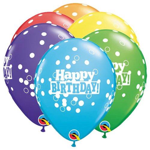 Qualatex Latex Luftballons 49852-q Geburtstag Konfetti Dots, 27,9cm farbenreiche