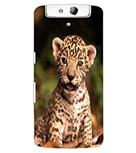 ColourCraft Cute Cub Design Back Case Cover for OPPO N1