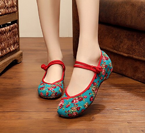 Lazutom , Mary Janes pour femme green
