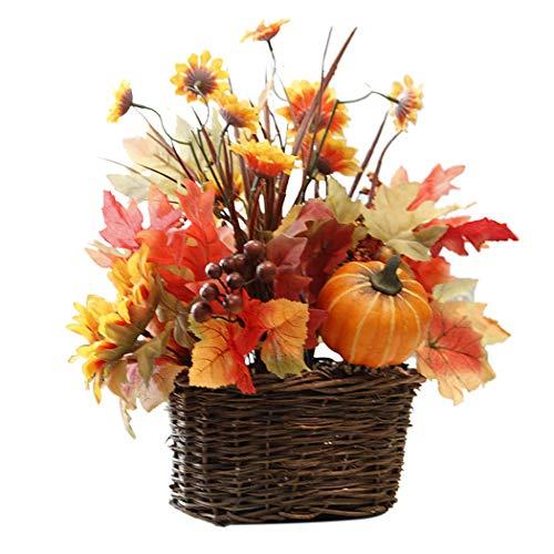 Justdolife fioriera artificiale del girasole finto realistica del cesto del fiore di natale