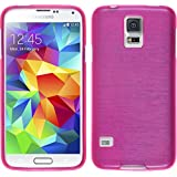 PhoneNatic Samsung Galaxy S4 Hülle Silikon pink brushed Case Galaxy S4 Tasche Case