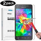OMOTON [2-pack] Cristal Templado Samsung Galaxy Grand Prime (2015 Released) Protector de Pantalla con[9H Dureza][2.5d Borde redondo][Alta Definicion][Garantía de por vida]