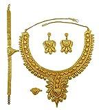 Matra 18k ethnique goldplated 4 pcs Set Collier femmes indiennes de bijoux de mariage traditionnel