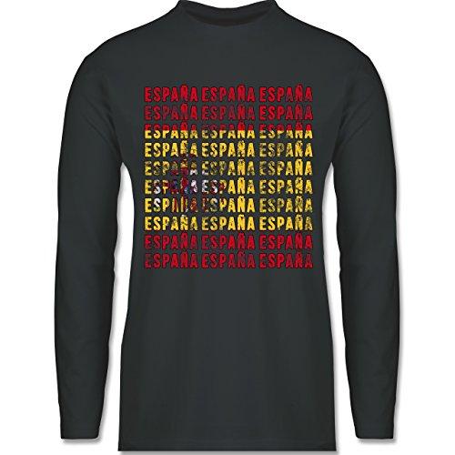 EM 2016 - Frankreich - Espana Vintage Typo - Longsleeve / langärmeliges T-Shirt für Herren Anthrazit