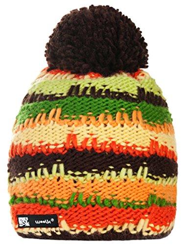 Wollig Wurm Winter Bruno Style Beanie Mütze mit Ponpon Damen Herren HAT HATS Fashion SKI Snowboard Morefazltd (TM) (Bruno 21)