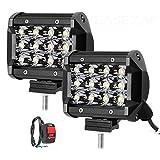 Andride Universal Fitting 12 LED Fog Light/Work Light Bar Spot Beam Off Road