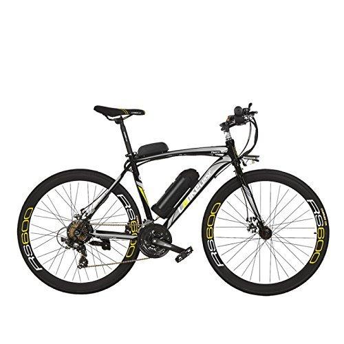 700C Bicicletta a pedalata assistita,Adotta batteria al litio da 36 V 20 Ah, freno a disco, telaio in lega di alluminio, fino a 70 km per carica, velocità 20-35 km / h, bicicletta da strada, Pedelec.