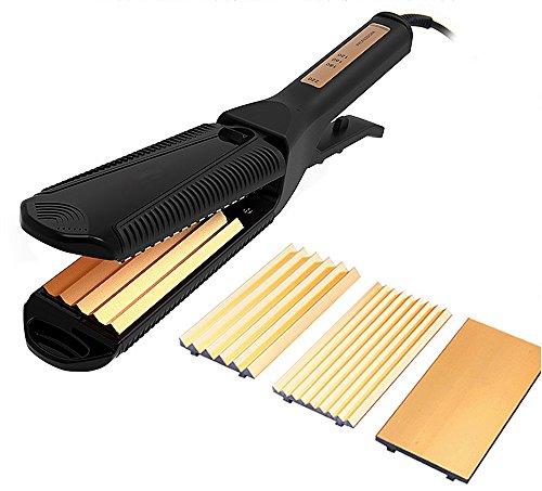 GUOQ Glätteisen Titan Negative Ionen-Technologie Professional Haarkur Haarglätter 25 Sekunden Temperatur steigt...