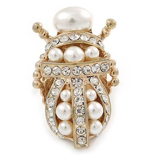 cristallo-perle-di-vetro-egiziano-scarab-beetle-anello-in-oro-placcato-taglia-7-8-regolabile-45-mm