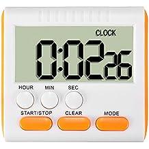 ELEGIANT Timer da Cucina/Magnetico Digitale 24 Ore Timer da Cucina con Display LCD e Allarme Timer Anello Forte