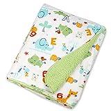 Best Toddler Blanket - Baby Bucket Double Layer Velvet Fleece Newborn Printed Review