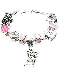 'Sleeping Beauty' Themed Childrens Charm Bracelet with Gift Box Girls Jewellery