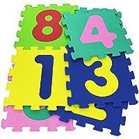 232026 Alfombra puzzle suave con NÚMEROS 10 piezas 29.5 x 29.5 x 8 cm colorida - Peluches y Puzzles precios baratos