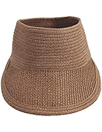 Demarkt Damen Baseball Kappe Sonnenhut Sommerhut Strohhut Hutumfang von etwa 56-58cm Dunkelkaffeefarbe