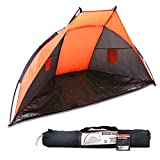 Best Beach Tent For Winds - UKHobbyStore Orange Beach Tent & Festival Shelter With Review